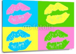 Lienzo Besos Andy Warhol